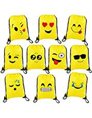 Bolsas de Cuerdas Dibujos Animados Mochila Bolsas PE para cumpleaños niños y Adultos la Fiesta Favorece Rellenos Bolsa 10 Piezas