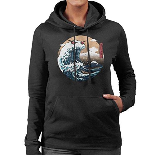 The Great Monster of Kanagawa Sweatshirt met capuchon voor dames