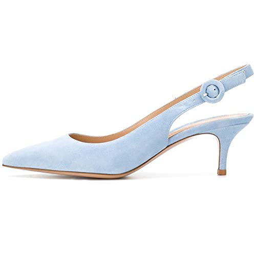 7d85dddb99a Light Blue Slingback Shoes  Amazon.com