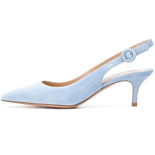 Light Blue Slingback Shoes Amazon Com