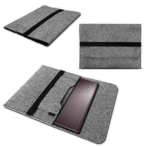 NAmobile Sleeve Tasche für Lenovo ThinkPad X1 Yoga - Carbon Hülle Grau Filz Hülle Cover