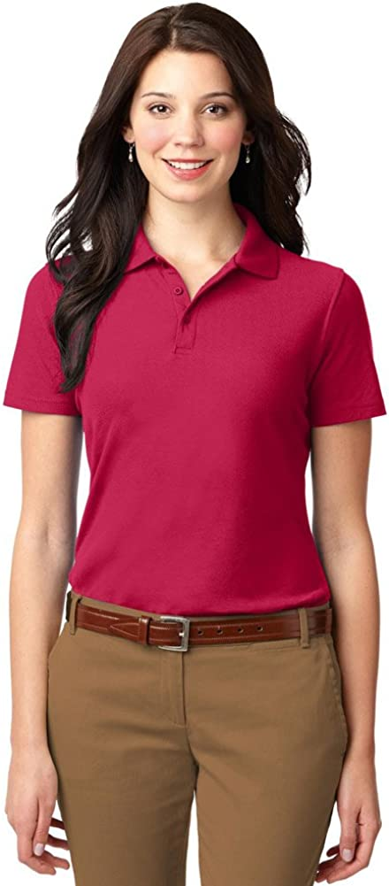 Port Authority Ladies Stain-Resistant Polo, Red, XX-Large