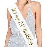 ADBetty'It's My 21st Birthday' Sash - 21st Birthday Sash Birthday Girl Sash 21 Birthday Party Favours