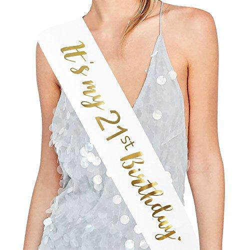 ADBettyIts My 21st Birthday Sash - 21st Birthday Sash Birthday Girl Sash 21 Birthday Party Favours