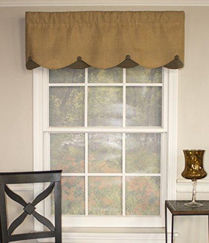 RLF HOME Burlap Petticoat 50 Inch Curtain Valance