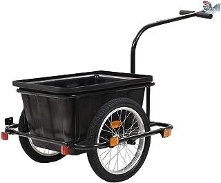comprar comparacion vidaXL Remolque de Carga para Bicicletas Tráiler Caravana Carreta Carretilla Carrito Remolcar para Bici Acero y PlásticoNe...