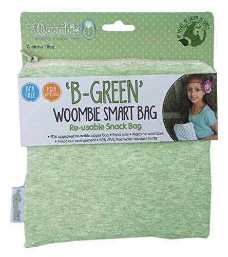 Woombie B-Green Snackbeutel, FDA-genehmigt, BPA- / PVC-frei One Size Lime Sorbet