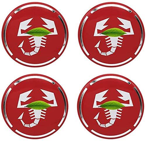 4 Piezas Coche Tapas centrales, para Fiat Abarth Punto 500 Ducato Palio Bravo Car Pegatina Centrales Tapones Mediados Tapas