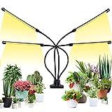 Pflanzenlampe LED Vollspektrum Pflanzenlicht 136 LEDs, Pflanzenleuchte für Zimmerpflanzen Wachstumslampe Grow Lampe 360°Einstellbar mit USB Adapter, Zeitschaltuhr 3/6/12H, 4 Modus, 5 Helligkeitsstufen