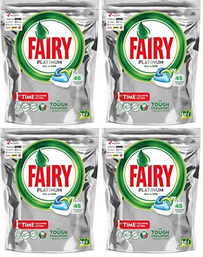 Fairy Platinum - Cápsulas para lavavajillas (4 x 45 unidades, 671 g)