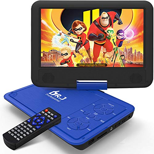 DR. J 11.5' Portable DVD Player with HD 9.5' Swivel Screen,...