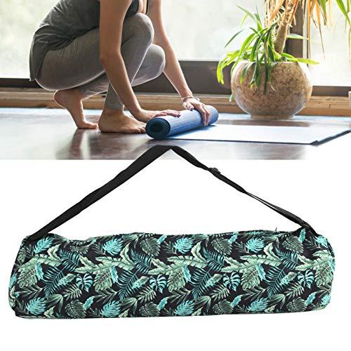 Bolsa de Hombro de Yoga, Mochila de Yoga con Doble Cremallera, Senderismo y Camping para Viajes, Tienda de Compras, Esterilla de Yoga, Gimnasio, Deportes(Forest Green)