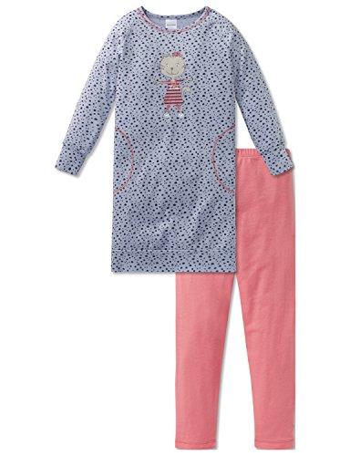 Schiesser Mädchen Cat Zoe Md Anzug lang Zweiteiliger Schlafanzug, Grau (Hellgrau 204), 98