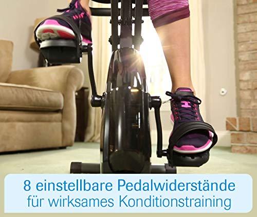 Mediashop Slim Cycle Heimtrainer, Liegefahrrad und Oberkörper-Trainer | zusammenklappbar | Radfahren und Ruderbewegung für effektives Kardio- & Krafttraining | Das Original aus dem TV - 4