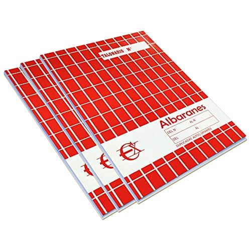 EUROXANTY Albaranes | Hoja calcante | Albarán de entrega | Documentos de venta | Original y copia | 40 hojas por talonario | 20,5 x 14,5 cm | (3)