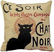Targa in metallo 20 x 30 cm bombata Cabaret du Chat Noire Paris decorazione regalo