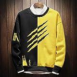 BGGWY Hombres Sudadera Chaqueta Hip Hop Hombre Abrigos Chándal Fleece Sudadera con capucha Sudaderas Algodón 5XL 6XL 7XL 8XL 9XL (Color : Yellow, Size : 9XL)