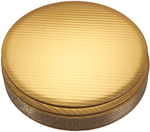 Cake Boards - 12-Piece Cardboard Round Cake Circle Base, 12 Inches Diameter, Gold
