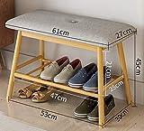 Taburetes de Zapatos Puerta nórdica hogar Puerta pequeña Puede Sentarse Zapatero Zapatero Banco de Entrada Zapato de Almacenamiento Zapatos Banco,Gris,61cm