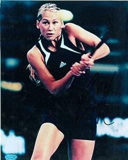Anna Kournikova autographed photo (Tennis Legend Swimsuit Model) 8x10 Image #1 (signed in dark area discounted)