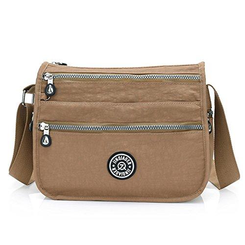 Foino Bolso Bandolera Mujer Impermeable Bolsas de Viaje Ligero Bolso de Moda Bolsa de Deporte Vintage Messenger Bag Bolsa Diseño para Tableta