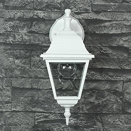 Aplique rústico/blanco/LED adecuado / IP44 1x E27 a 60W 230V / luz de patio/iluminación de la entrada del jardín exterior...