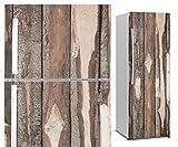 Vinilos para Neveras y Frigoríficos | 3D Madera Vintage | Vinilos Adhesivos Decorativos para Muebles del Hogar y Cocina | Impermeable (200 x 60 cm)