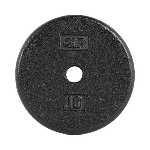 CAP Barbell 10-Pound Standard Free Weight Plate, 1-inch Bars in Black, Set of 2