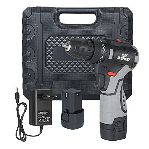 KKmoon Taladro atornillador inalámbrico 1750 rpm 25+1 niveles de par de giro, 2 velocidades