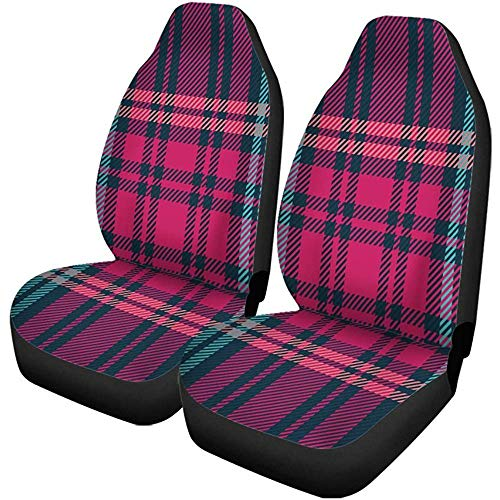 Beth-D autostoelhoezen, Schotse ruiten, rustieke deken, abstract Groot-Brittannië, Keltische stijl, 2-delige set