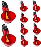 Leylor Vaso para Beber Agua para Aves de Corral - 10 Piezas de plástico Bebedero automático alimentador Bebedero Pollo gallina para Aves codornices Ganado Pollo gallina