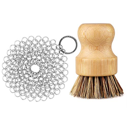 Stainless Steel Chainmail Scrubber Set