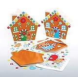 Baker Ross Kits Tarjetas Casa de jengibre (Pack de 6) para manualidades y decoraciones navideñas infantiles