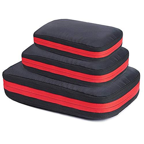 圧縮バッグ 3点セット Vsadey 大容量 衣類仕分け 乾湿分離 ファスナー圧縮 簡単圧縮 軽量 防水 出張 旅行 圧縮袋 収納ケース トラベルポーチ(3点セット)