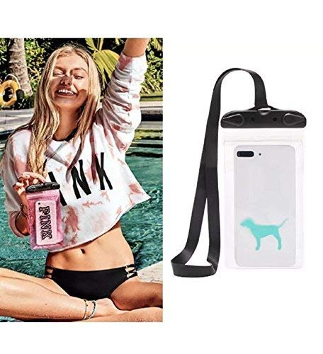 Victoria's Secret PINK WATER RESISTANT PHONE POUCH, Clear