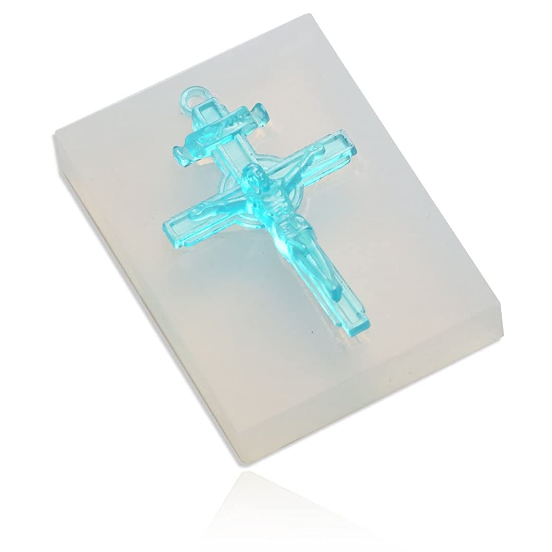 WYD Jewelry Beading Casting Mold,Clear Resin Casting Mold Crystal Cross Pendant Handmade Soap Mold Unicorn Gift