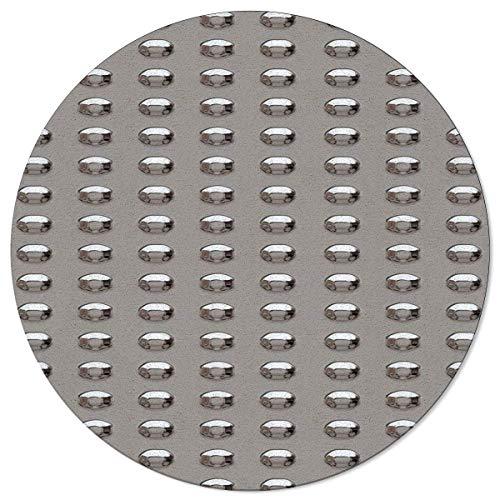 Liz Carter 60CM Round Area Rug Door Mat Durable Carpet Absorbs Water Floor Mat Metal Rivet