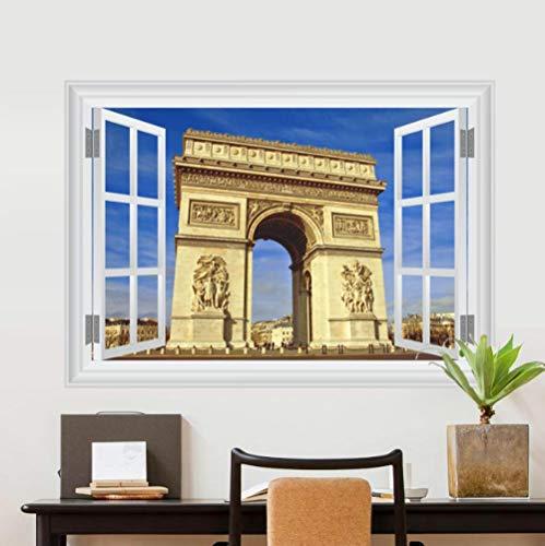 3d Etiqueta De La Pared Arco De Triunfo Francés 70x50cm Dormitorio Sala De Estar Cocina Decoración Del Hogar Papel Pintado