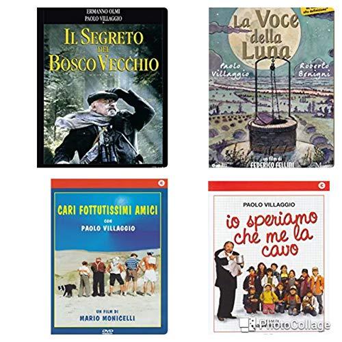 Paolo Villaggio drama -collection (La Voce della luna-Io speriamo che me la cavo-Cari fottutissimi amici-Il segreto del bosco vecchio)(4 dvd edizione italiana)