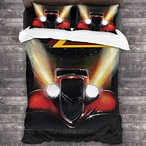 'N/A' Juego de funda de edredón para todas las estaciones (1 funda y 2 fundas de almohada), juego de ropa de cama de 3 piezas, 86 x 70 pulgadas