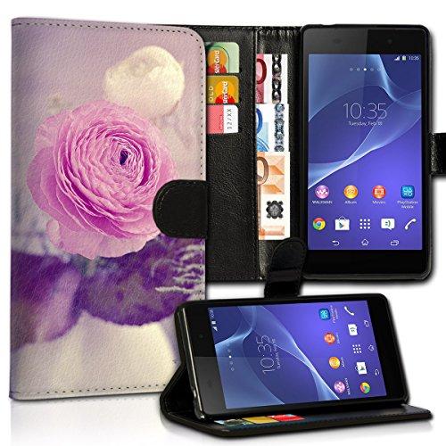 wicostar Book Style Wiko Rainbow Lite Premium PU-Leder Tasche Flip Brieftasche Handy Hülle Kartenfächer mit Standfunktion für Wiko Rainbow Lite - Design Flip MVC78