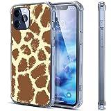 Coque transparente en caoutchouc souple pour iPhone 12 Pro - Motif girafe - 15,5 cm