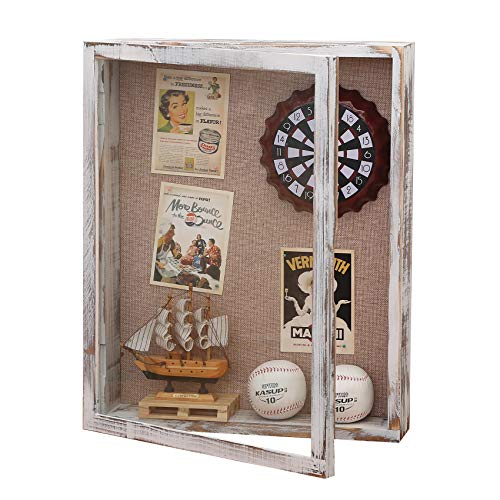 16x20 Shadow Box, 4 Inch Depth Extra Large Shadow Box Frame with Glass, Thick Shadow Box Display...