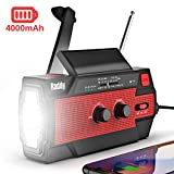 [2020 Newest] Raddy SW3 4000mAh Emergency Radio Hand Crank Solar-Powered, FM/AM/NOAA Weather Radio with 3 Types of Flashlight, SOS Alarm, Reflective Strip, Cell Phone Charger