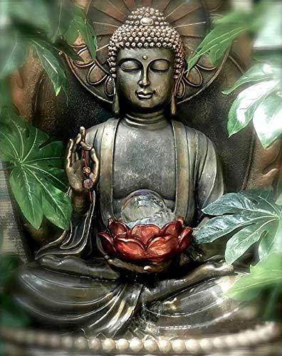 WZZPSD Erwachsenen Puzzle Teile 1000 Lotus Buddha-Statue In Der Hand DIY Holz Puzzle Einzigartiges Geschenk Moderne Wohnkultur Stil