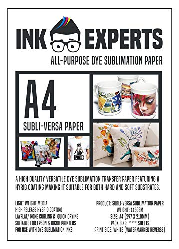 Ink Experts Subli-Versa Universal-Sublimationspapier, A4, 115 g/m² 100 Sheets