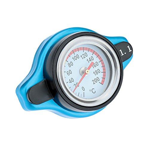 KKmoon Universale Thermo Termostatica Coperchio del Tappo del Radiatore con Calibro di Temperatura dell'Acqua 1,1BAR