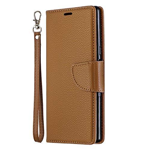 """Nadoli für iPhone 11 Pro 5.8"""" Leder Hülle,PU Lederhülle Flip Case Handytasche Brieftasche Magnetischen Standfunktion Schutzhülle für iPhone 11 Pro 5.8"""",Braun"""