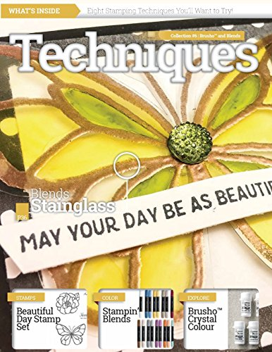 Stamping Techniques Magazine by CraftyPerson: Collection 6 - Stampin' Blends and Brusho Crystal Colour
