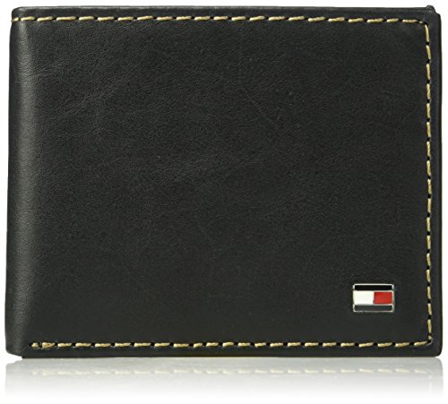 Tommy Hilfiger Men's Leather Wallet - RFID Blocking Slim Thin Bifold with...